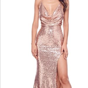A&N luxe label rose gold gown